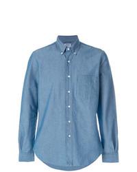 Camisa de vestir de cambray azul de Aspesi