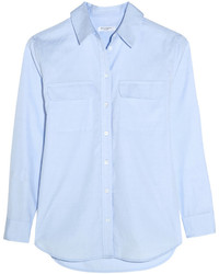 Camisa de vestir de cambray celeste de Equipment