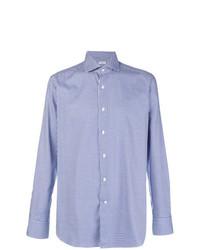 Camisa de vestir de cuadro vichy azul de Bagutta