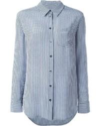 Camisa de Vestir de Cuadro Vichy Azul de Equipment