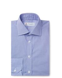 Camisa de vestir de cuadro vichy azul de Turnbull & Asser