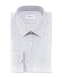 Camisa de vestir de cuadro vichy blanca
