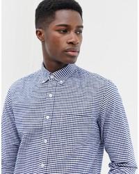 Camisa de vestir de cuadro vichy en blanco y azul marino de J.Crew Mercantile
