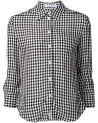 Camisa de vestir de cuadro vichy en blanco y negro de Altuzarra