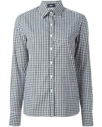 Camisa de vestir de cuadro vichy en blanco y negro de Best