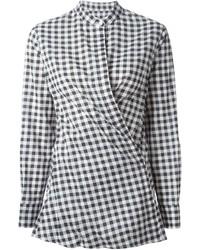 Camisa de vestir de cuadro vichy en blanco y negro de Dondup