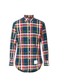 Camisa de vestir de cuadro vichy en multicolor