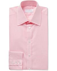 Camisa de vestir de cuadro vichy rosada de Turnbull & Asser