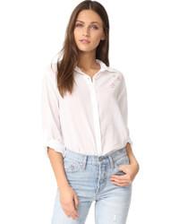 Camisa de vestir de estrellas blanca