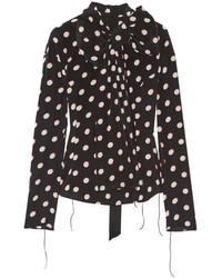 Camisa de vestir de gasa a lunares en negro y blanco de Marc Jacobs