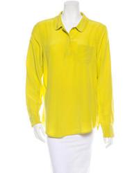 Camisa de vestir de gasa amarilla