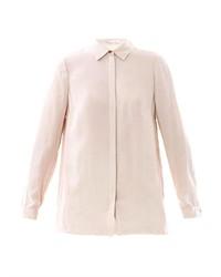 Camisa de vestir de gasa en beige