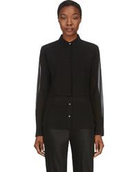 Camisa de vestir de gasa negra de Alexander Wang