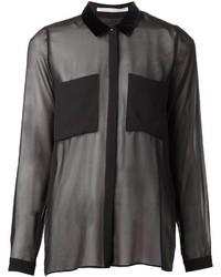 Camisa de vestir de gasa negra de Schumacher