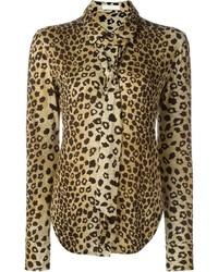 Camisa de vestir de leopardo marrón claro de Chloé