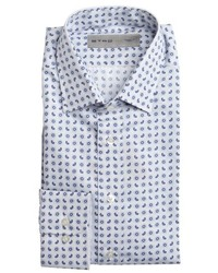 Camisa de vestir de paisley blanca