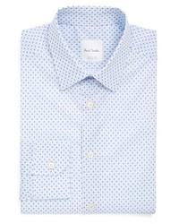 Camisa de vestir de paisley celeste