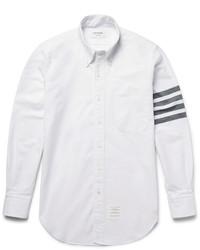 Camisa de vestir de rayas horizontales blanca