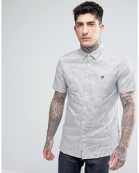 Camisa de vestir de rayas horizontales celeste de Lyle & Scott