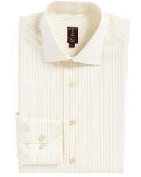 Camisa de vestir de rayas verticales amarilla