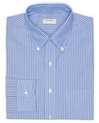 Camisa de vestir de rayas verticales azul