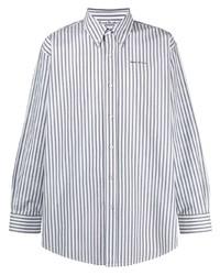 Camisa de vestir de rayas verticales blanca de Acne Studios