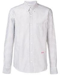Camisa de vestir de rayas verticales blanca de Ami Paris