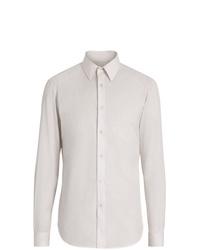 Camisa de vestir de rayas verticales blanca de Burberry