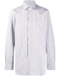 Camisa de vestir de rayas verticales blanca de Finamore 1925 Napoli