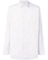 Camisa de vestir de rayas verticales blanca de Golden Goose