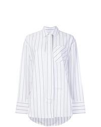 Camisa de vestir de rayas verticales blanca de MSGM