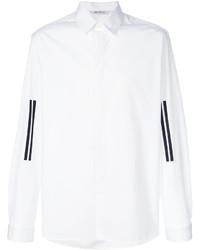 Camisa de vestir de rayas verticales blanca de Neil Barrett