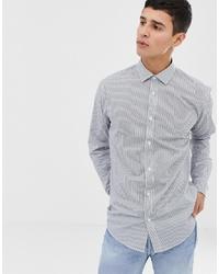 Camisa de vestir de rayas verticales blanca de ONLY & SONS