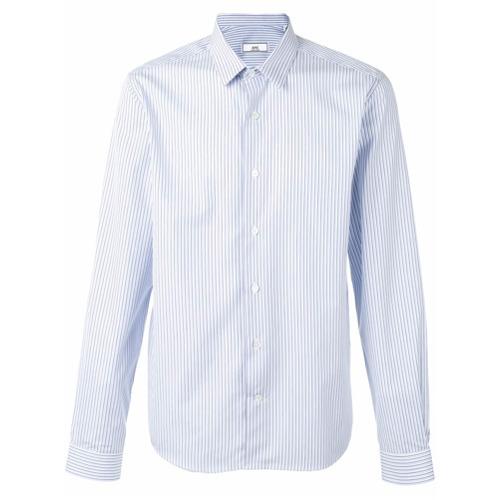 Camisa de vestir de rayas verticales celeste de AMI Alexandre Mattiussi