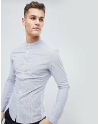 Camisa de vestir de rayas verticales celeste de ASOS DESIGN