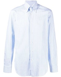 Camisa de vestir de rayas verticales celeste de Barba
