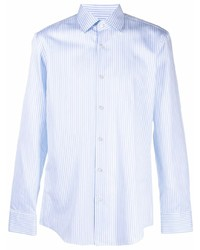 Camisa de vestir de rayas verticales celeste de BOSS HUGO BOSS