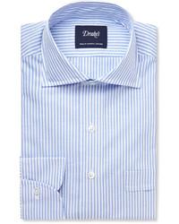 Camisa de vestir de rayas verticales celeste de Drakes