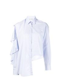 Camisa de vestir de rayas verticales celeste de EACH X OTHER
