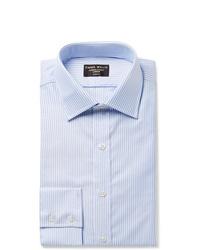 Camisa de vestir de rayas verticales celeste de Emma Willis