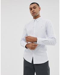 Camisa de vestir de rayas verticales celeste de Farah