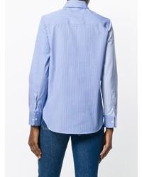 Camisa de vestir de rayas verticales celeste de Golden Goose Deluxe Brand