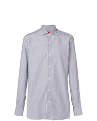 Camisa de vestir de rayas verticales celeste de Isaia