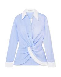 Camisa de vestir de rayas verticales celeste de JW Anderson
