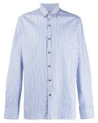 Camisa de vestir de rayas verticales celeste de Lanvin