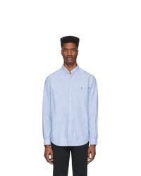 Camisa de vestir de rayas verticales celeste de Polo Ralph Lauren