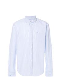 Camisa de Vestir de Rayas Verticales Celeste de Sun 68