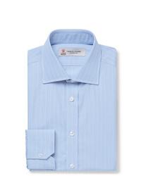Camisa de vestir de rayas verticales celeste de Turnbull & Asser