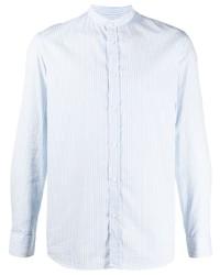 Camisa de vestir de rayas verticales celeste de Zadig & Voltaire