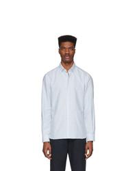 Camisa de vestir de rayas verticales en blanco y azul de Eidos